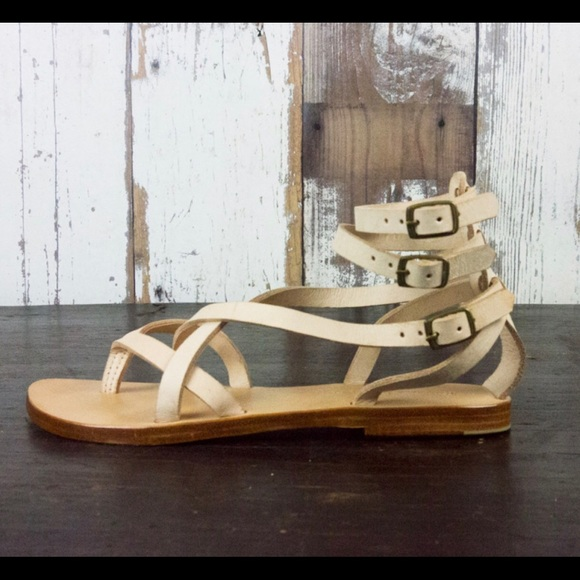 05aa516dfb7 Rabens Saloner Shoes | Buckle Ankle Strap Leather Sandals | Poshmark
